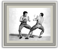 An image of boxing match