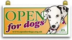 Open for Dogs. The Prince Regent welcomes dogs