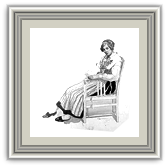 A lady sat on a chair
