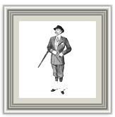 An antique image of a man holding a shotgun